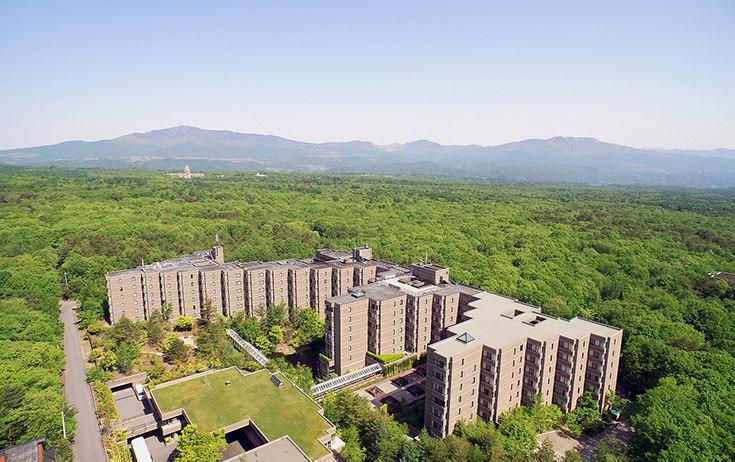標高1130mのホテル。