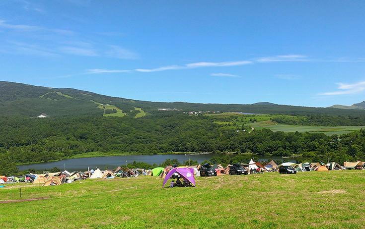 バラギ湖にはキャンプ場も。